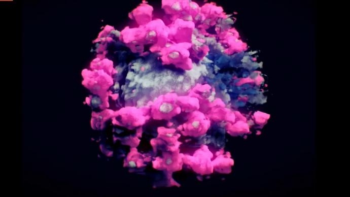 新冠病毒是什么颜色?3D影像中的配色是怎么来的?央视揭秘
