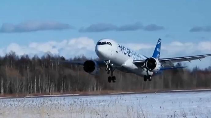 俄国产大客机极寒条件下成功试飞,机身冰层一度达8厘米