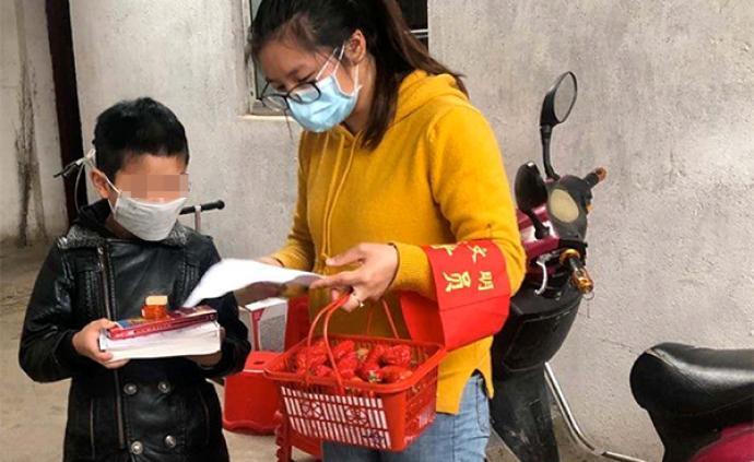 533名武汉江夏小学生收到清华大学学生的一份特殊礼物
