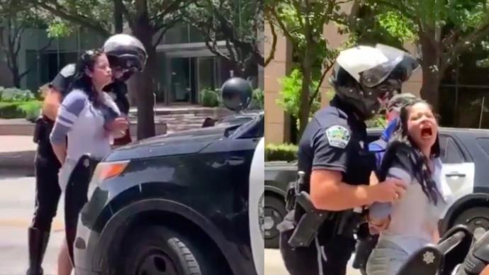 美国男警强行对女子搜身触碰胸部多次,引发性骚扰争议