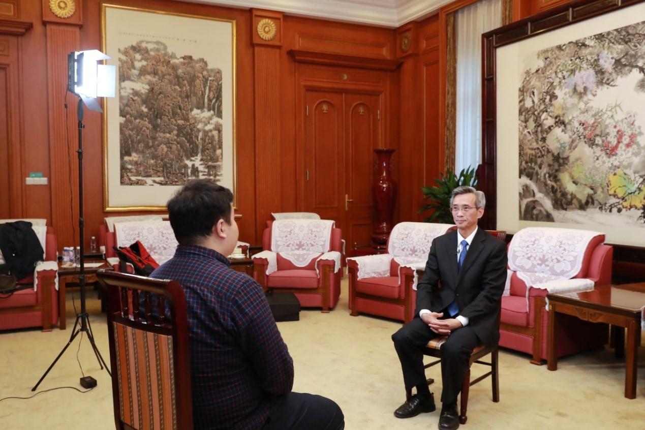 林松添接受澎湃新闻专访。澎湃新闻记者 史含伟 图