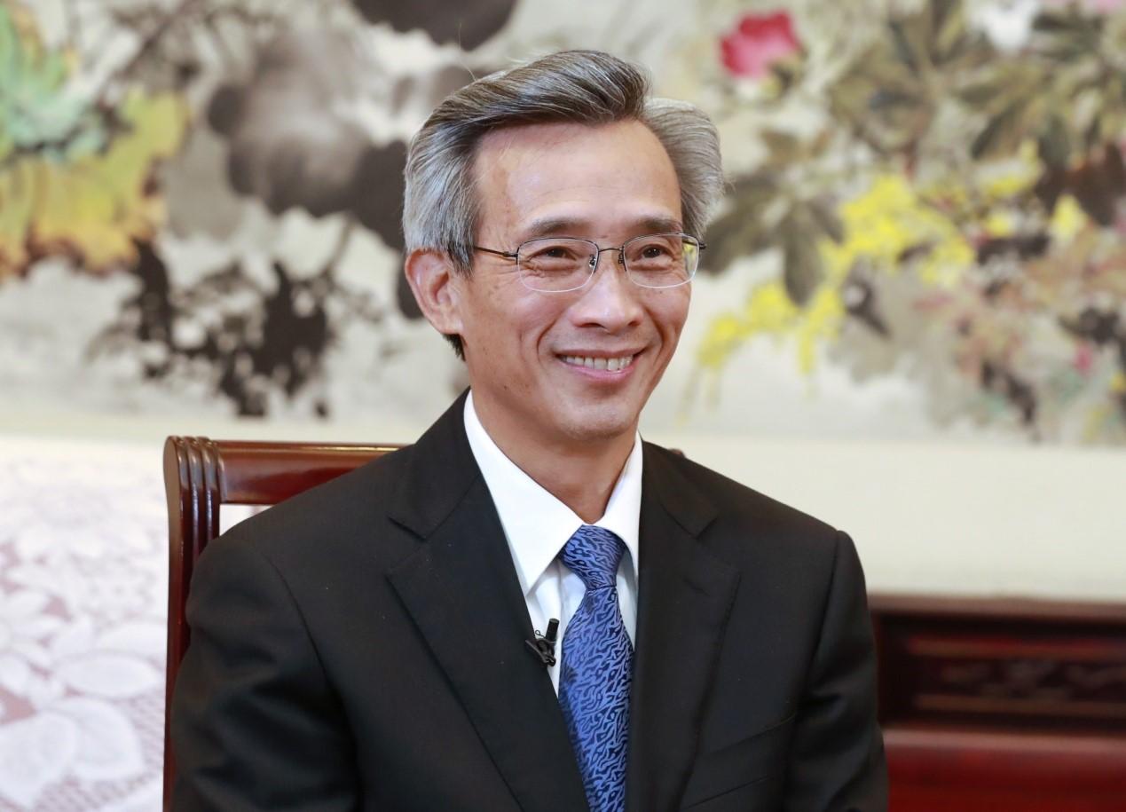 中国人民对外友好协会会长林松添。澎湃新闻记者 史含伟 图