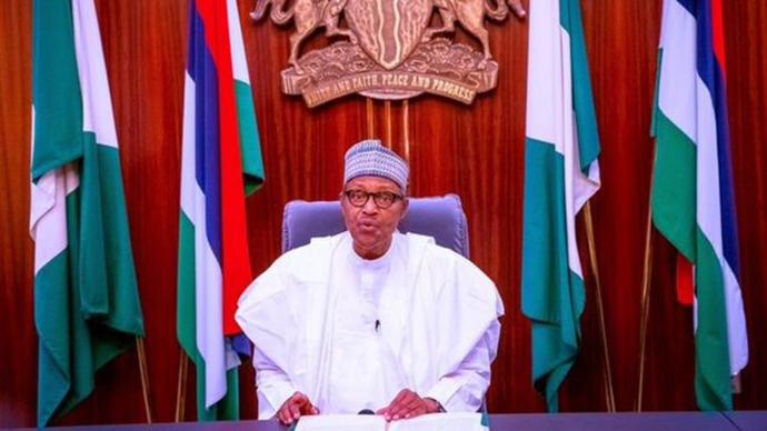 随着事态激化,尼日利亚总统布哈里也通过电视讲话公开发声。