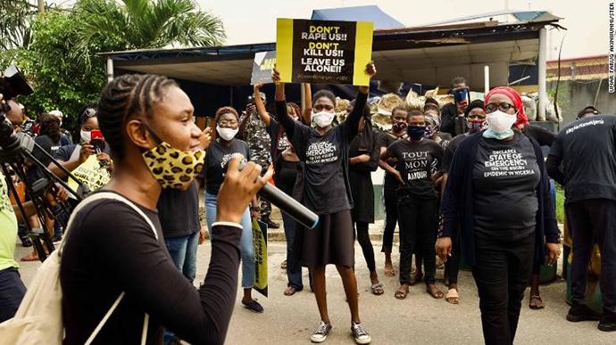 2020年6月,强奸事件频发引发了尼日利亚女性的反对强奸抗议运动