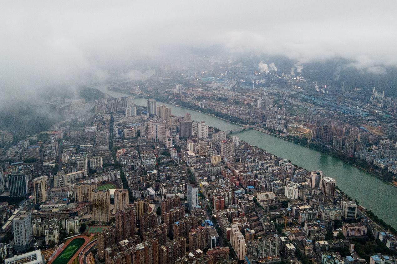 2020年11月23日,三明市城区航拍。