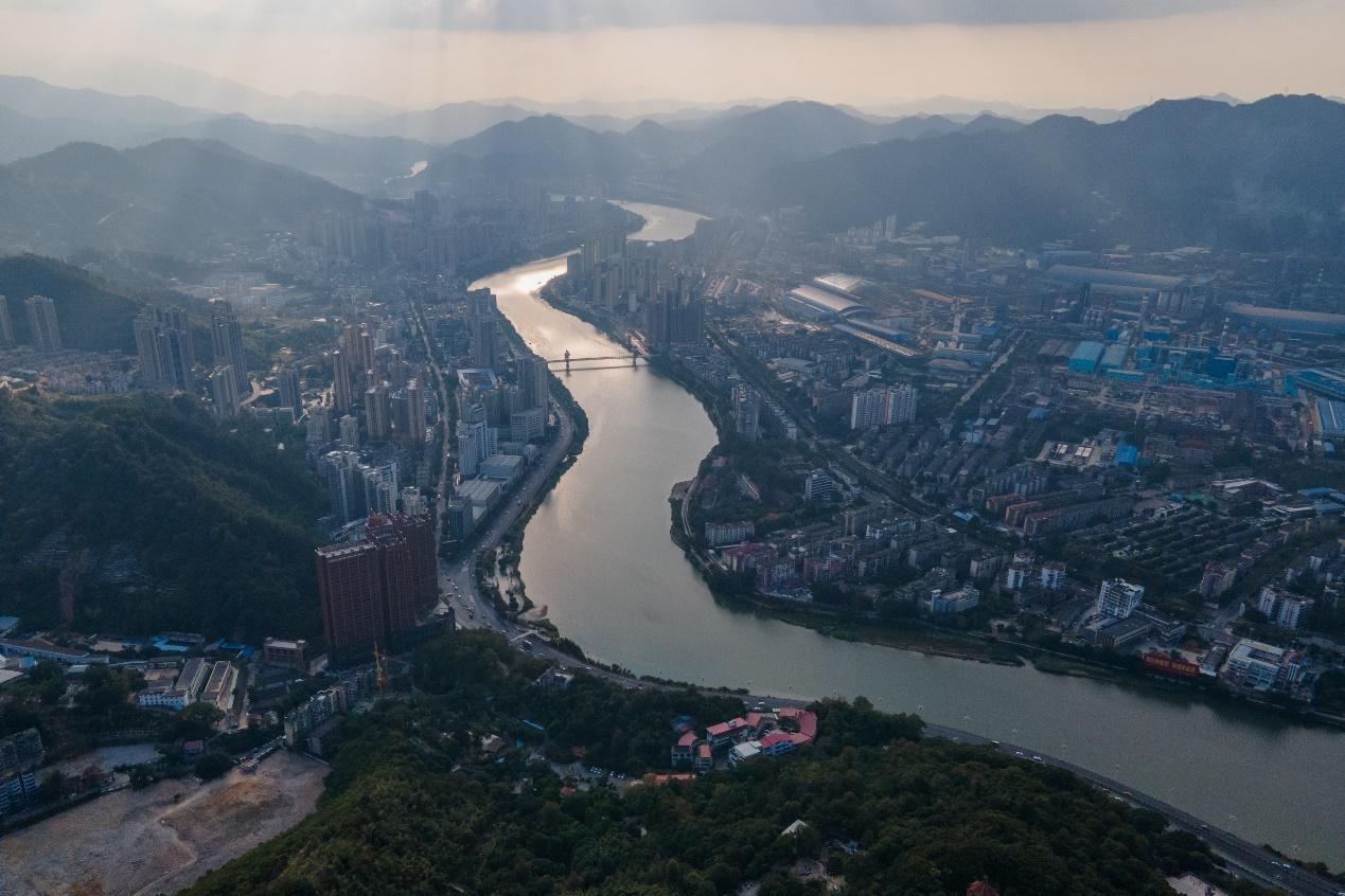 2020年11月22日,三明市城区俯瞰。