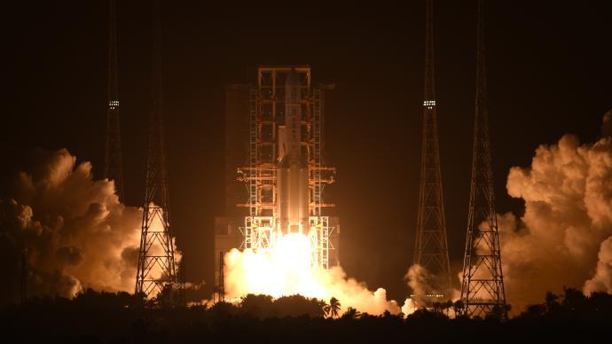 嫦娥揽月 长征五号点火升空,送嫦娥五号奔向月球