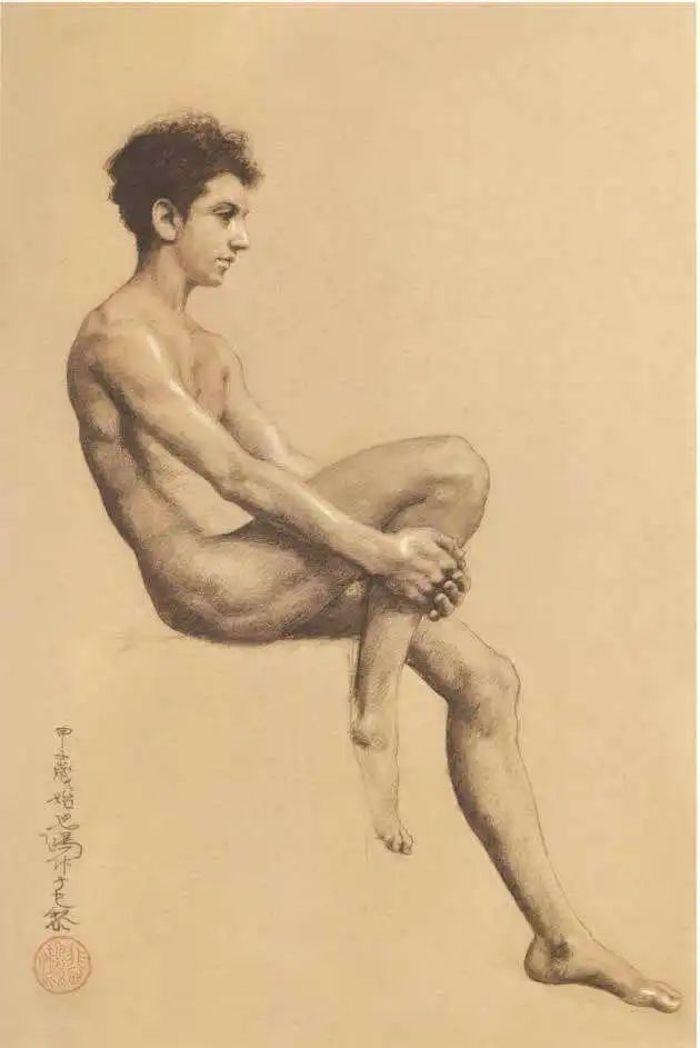 徐悲鸿 《男人体》 1924年