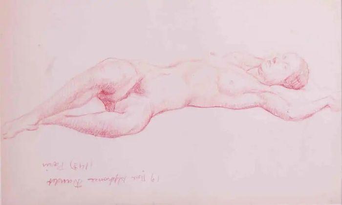 潘玉良 《仰卧人体》 20世纪30-40年代