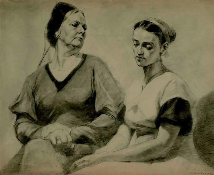 伍必端 《婆媳之间》 1957年