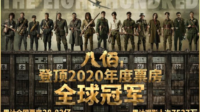 2020年全球票房十大基本排定,《八佰》等中国影片占四席