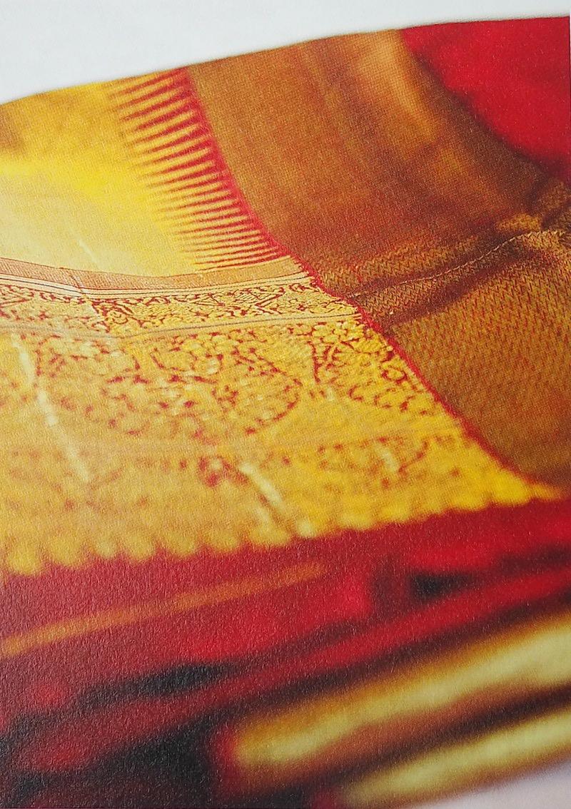 泰戈尔赠徐志摩、陆小曼夫妇的极具孟加拉风情的金丝编织头巾