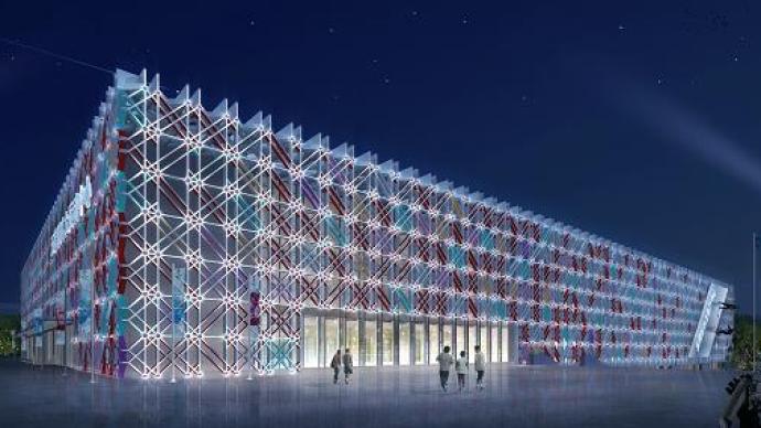 """""""冰菱花""""驚艷亮相,北京冬奧會五棵松冰上運動中心完工"""