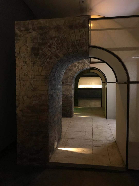 铺厅摹拟的安阳西下穴曹操下陵墓场景