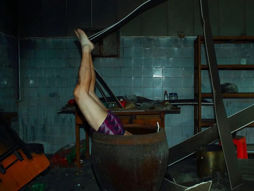 依子雷,「临床病案」系列,做品《自吾坑骗》,皂场