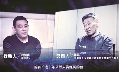 图为反腐警示专题片《围猎:行贿者说》画面截图。(云南省纪委监委宣传部 供图)