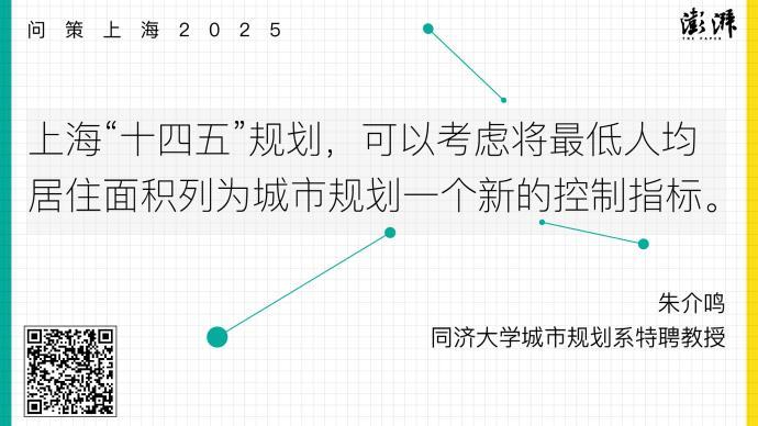 問策上海2025|規劃宜引入最低人均居住面積作為控制指標