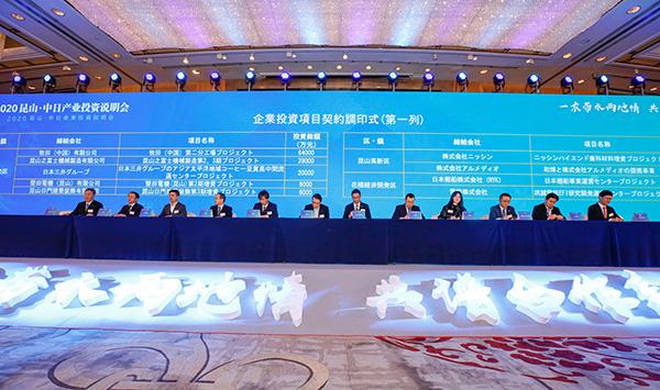 2020昆山·中日产业投资说明会项目签约现场