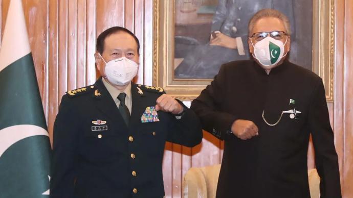 巴基斯坦总统、总理会见魏凤和:支持中方在南海等问题上立场