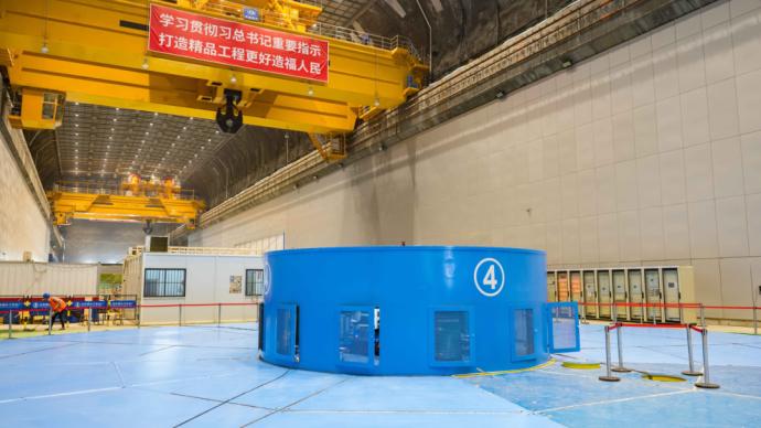 第六台正式投产发电,乌东德水电站机组投产过半