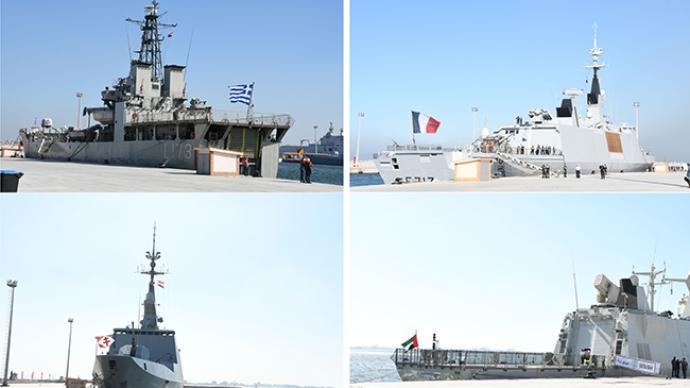 埃及、希腊、塞浦路斯在地中海展开联合军事演习