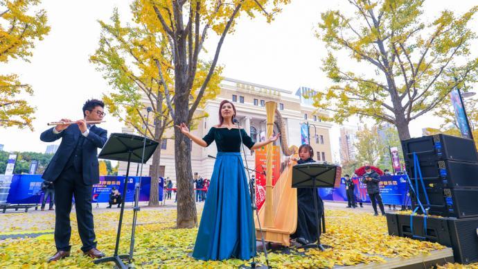 """竖琴长笛对话女高音,在银杏树下奏响""""冬日序曲"""""""