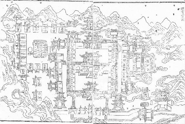 图10 《洞霄宫志》内收录的《洞霄宫图》