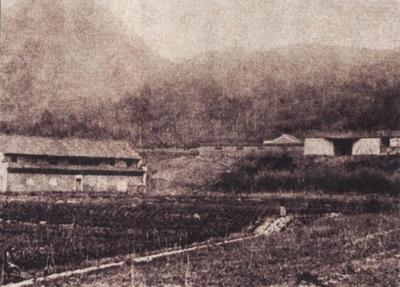 图14 清末民国时期(?)的洞霄宫,从东北方面拍摄的照片。