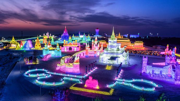 冰雕、城堡,冬季的哈爾濱美得像童話