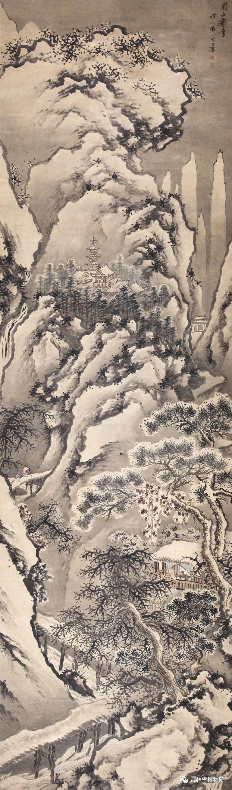 明 谢时臣(款)《关山雪霁》 纵342厘米 横99厘米