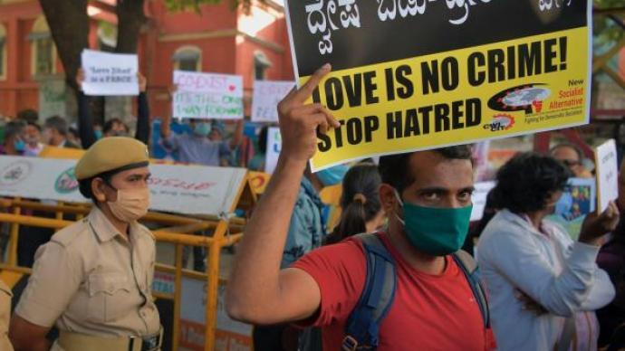 """""""愛情圣戰""""與印度跨宗教婚姻"""