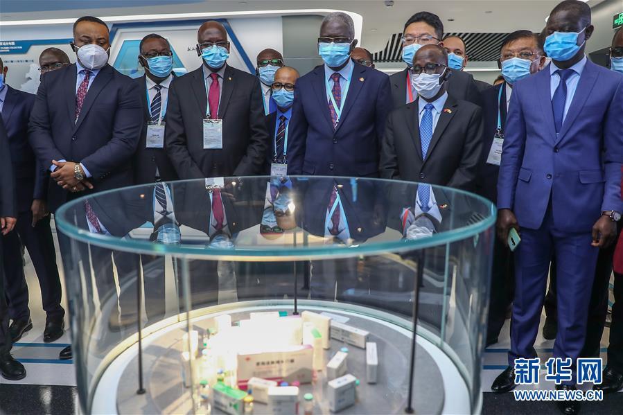 10月15日,非洲国家和机构的驻华外交使节参观中国生物博物馆。新华网 图