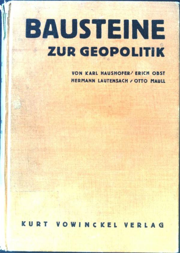 笔者收藏的豪斯霍弗等著《地政学基础》(1928年初版)