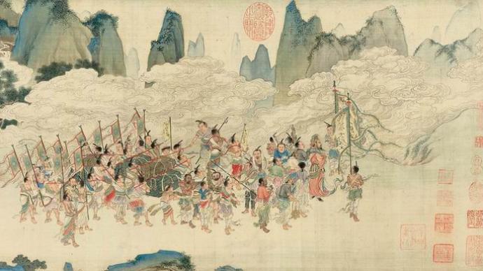 仇英《職貢圖》卷歷代遞藏脈絡:吳湖帆曾寫下三段題跋