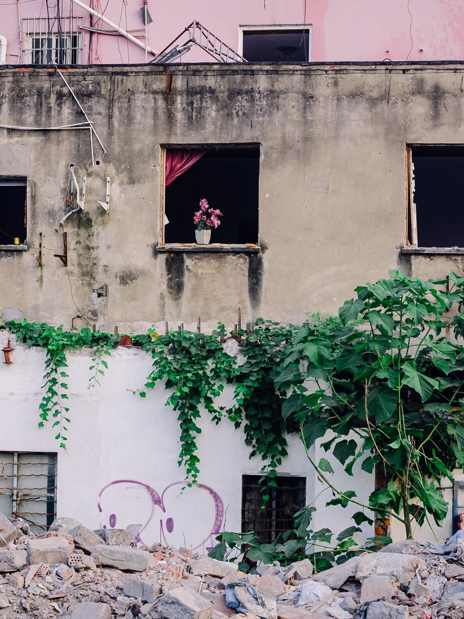 将被拆除的养老院,上海静安区西苏州路,2020年8月18日。