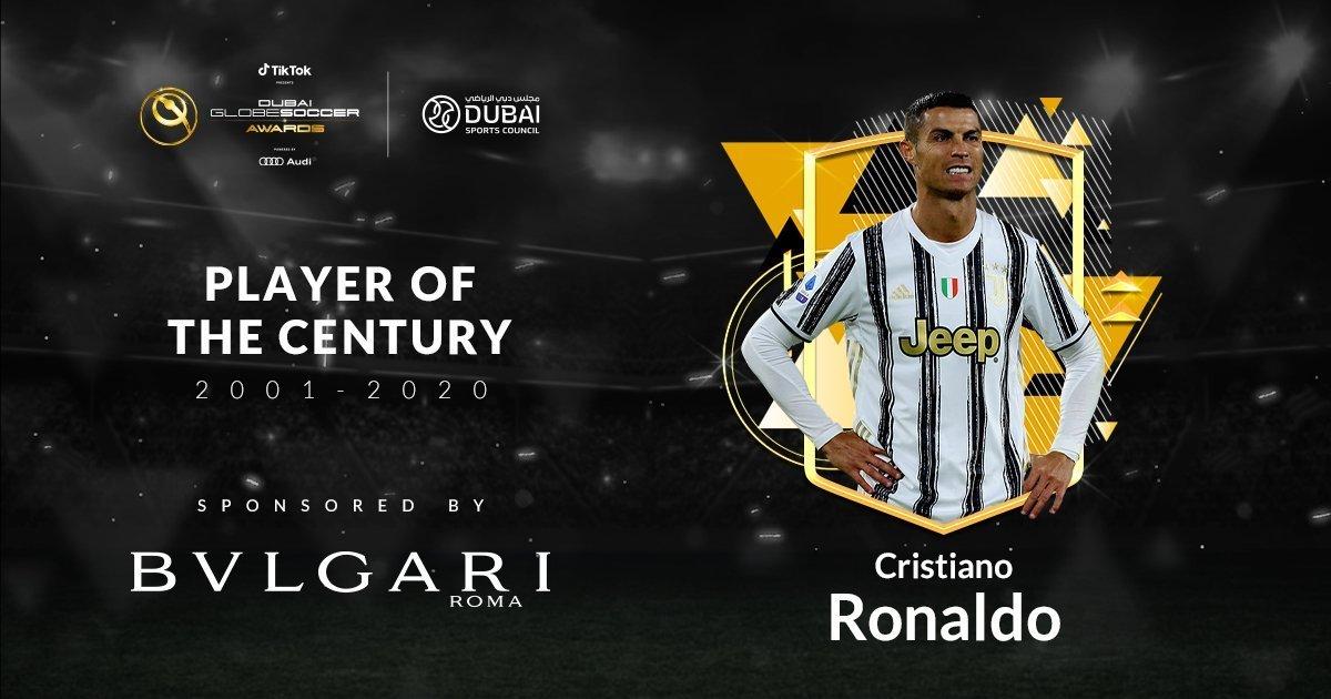 C罗当选世纪最佳球员。