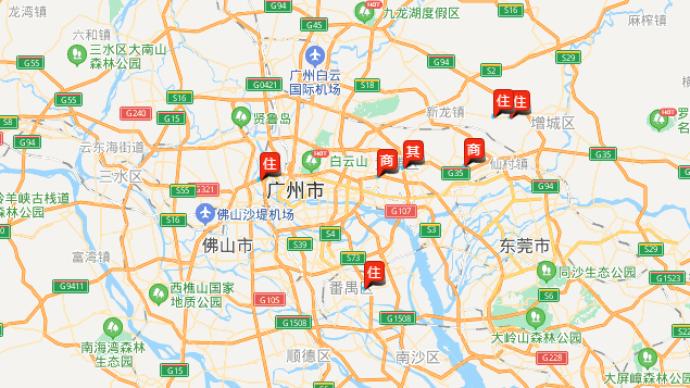 廣州一日成交7宗地收金132億元,僅一宗宅地達到政府限價