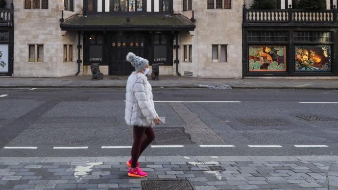 美媒:英國英格蘭地區的新冠住院人數超過春季疫情高峰期
