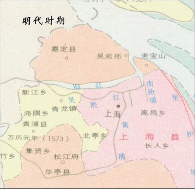 上海水系历史变迁。赵敏华 供图