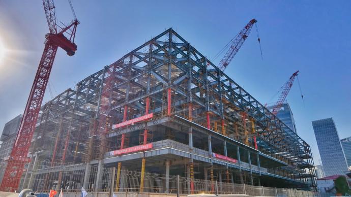 上博東館主體鋼結構今封頂,將于2022年建成開放