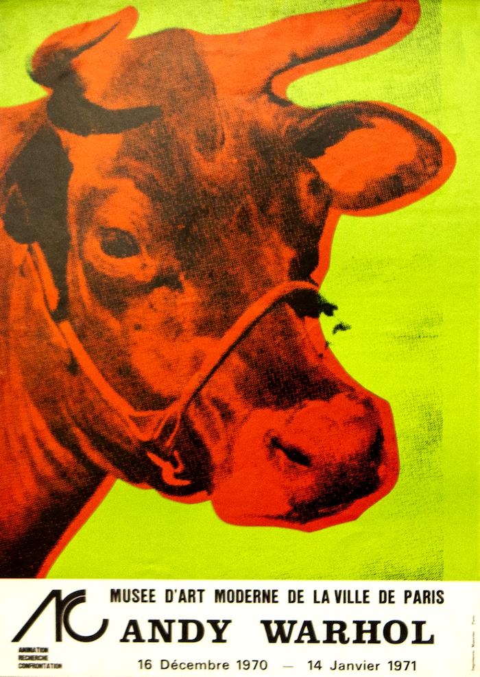 《奶牛》系列,胶印版画,1970年