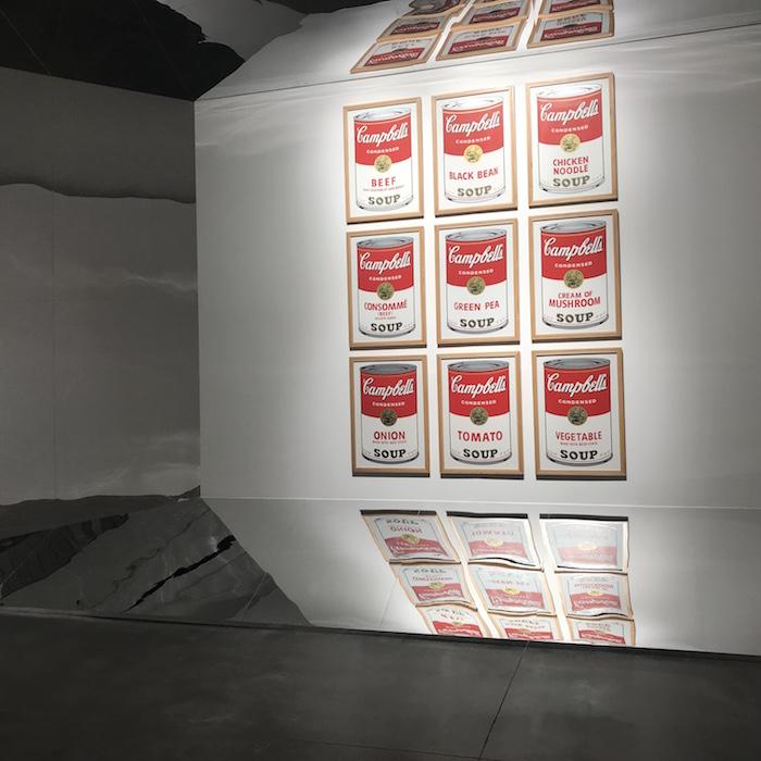 展厅现场,《金宝汤罐头系列》,丝网印刷,1985年