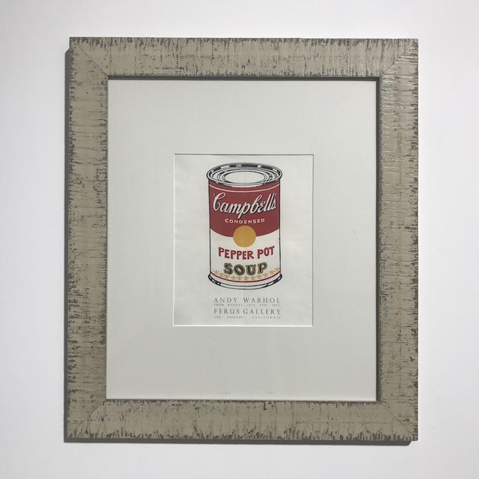展厅现场,《金宝汤罐头》,丝网印刷,1962年