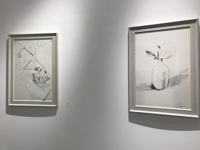 展厅现场,《花卉(黑与白)》系列