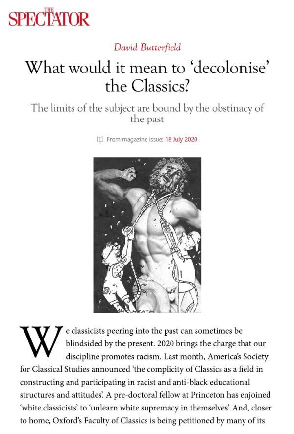 剑桥大学古典系青年教师反对学科边界的无尽拓展