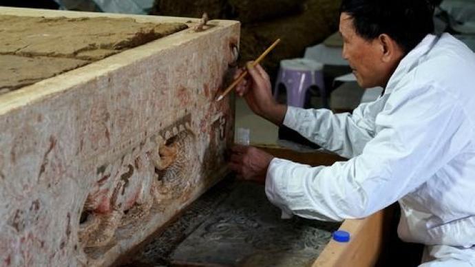 隋代漢白玉石棺床墓現身河南安陽:布局嚴謹、雕刻精湛