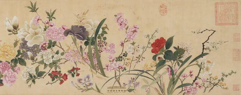 清·邹一桂绘 《百花图》卷(局部) 中国国家博物馆藏