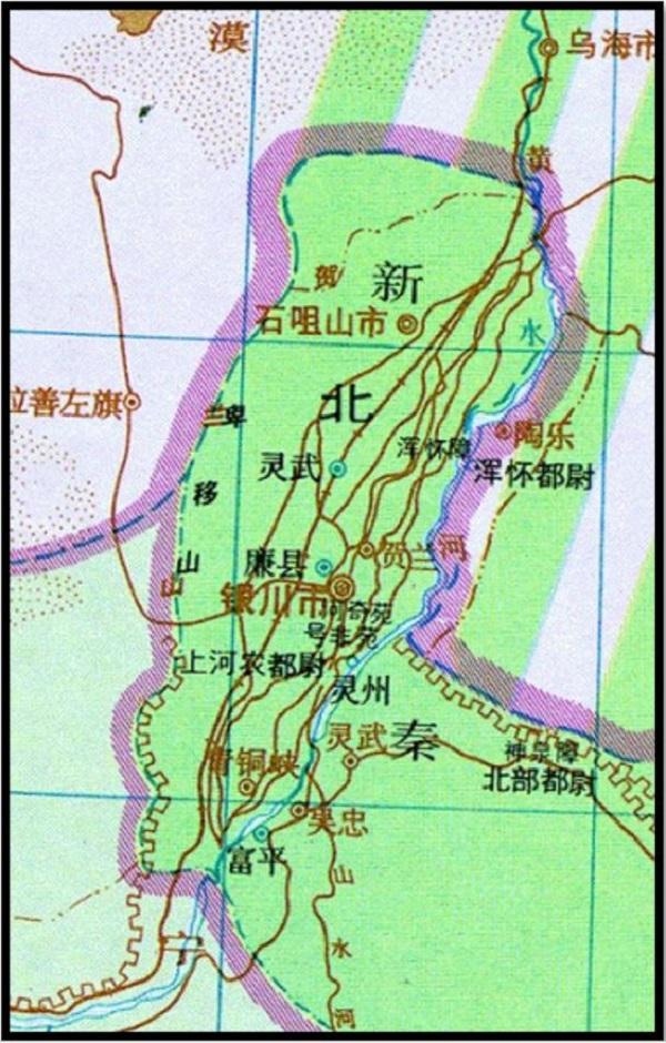 《中国历史地图集》对汉代灵州县方位的标绘