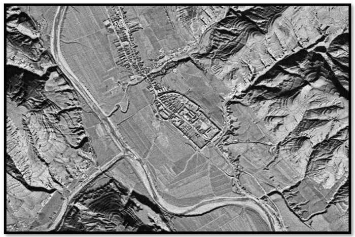 1969年美国Corona卫星拍摄的曲子镇