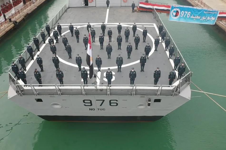 """埃及海军已收到与法国合作建造的第一艘""""追风""""(Gowind)级护卫舰。"""